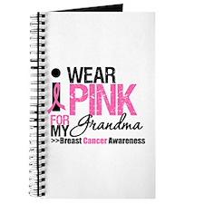 I Wear Pinnk For My Grandma Journal