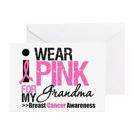 I Wear Pinnk For My Grandma Greeting Cards (Pk of
