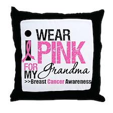 I Wear Pinnk For My Grandma Throw Pillow