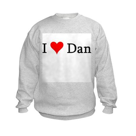 I Love Dan Kids Sweatshirt