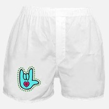 Aqua Bold Love Hand Boxer Shorts