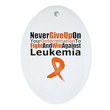LeukemiaFight Oval Ornament