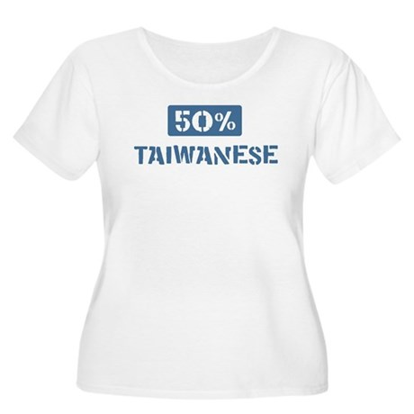 50 Percent Taiwanese Women's Plus Size Scoop Neck