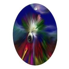 Pheonix Bird Pendant /  Oval Ornament