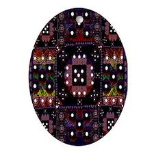 Rug Pendant /  Oval Ornament