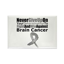 Brain Cancer Fight Rectangle Magnet