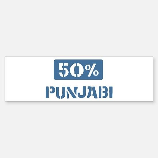 50 Percent Punjabi Bumper Bumper Bumper Sticker
