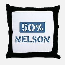 50 Percent Nelson Throw Pillow