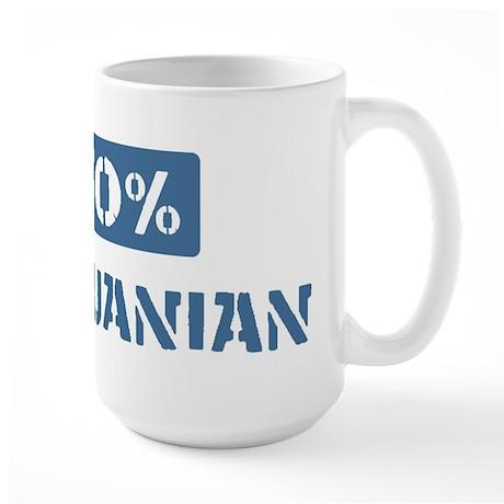 50 Percent Lithuanian Large Mug