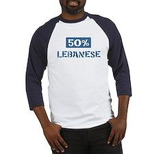 50 Percent Lebanese Baseball Jersey