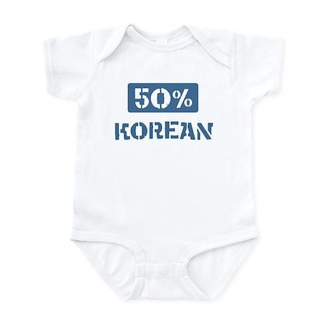 50 Percent Korean Infant Bodysuit