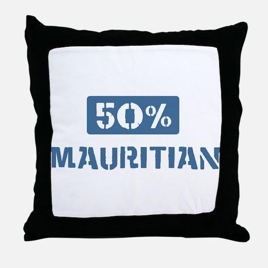 50 Percent Mauritian Throw Pillow