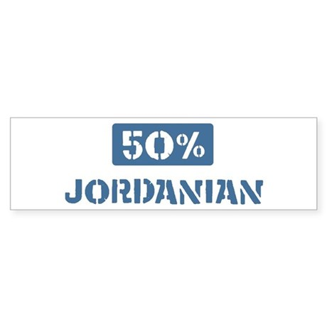 50 Percent Jordanian Bumper Sticker