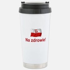 Polish Na zdrowie Stainless Steel Travel Mug