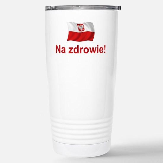 Polish Na zdrowie Stainless Steel Travel Mug