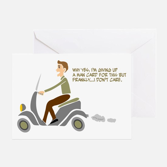 Scooter Retro Boy Greeting Card