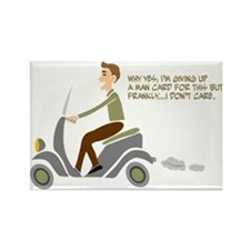 Scooter Retro Boy Rectangle Magnet