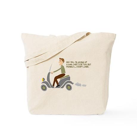 Scooter Retro Boy Tote Bag