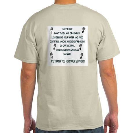 Search and Rescue - Get Lost Ash Grey T-Shirt