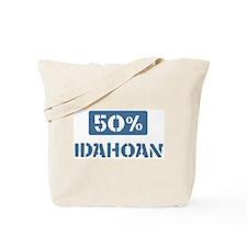 50 Percent Idahoan Tote Bag