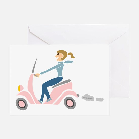 Scooter Girl Greeting Card