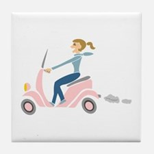 Scooter Girl Tile Coaster