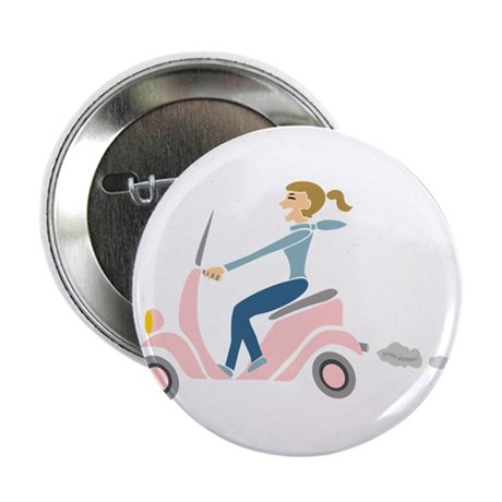 """Scooter Girl 2.25"""" Button (100 pack)"""