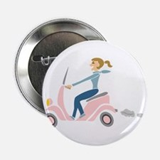 "Scooter Girl 2.25"" Button"