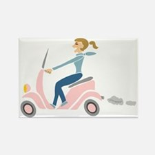 Scooter Girl Rectangle Magnet