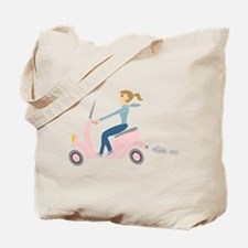 Scooter Girl Tote Bag