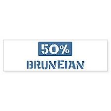 50 Percent Bruneian Bumper Bumper Sticker