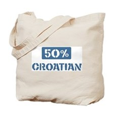 50 Percent Croatian Tote Bag