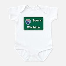 Wichita, KS Highway Sign Infant Bodysuit
