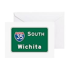 Wichita, KS Highway Sign Greeting Cards (Pk of 10)