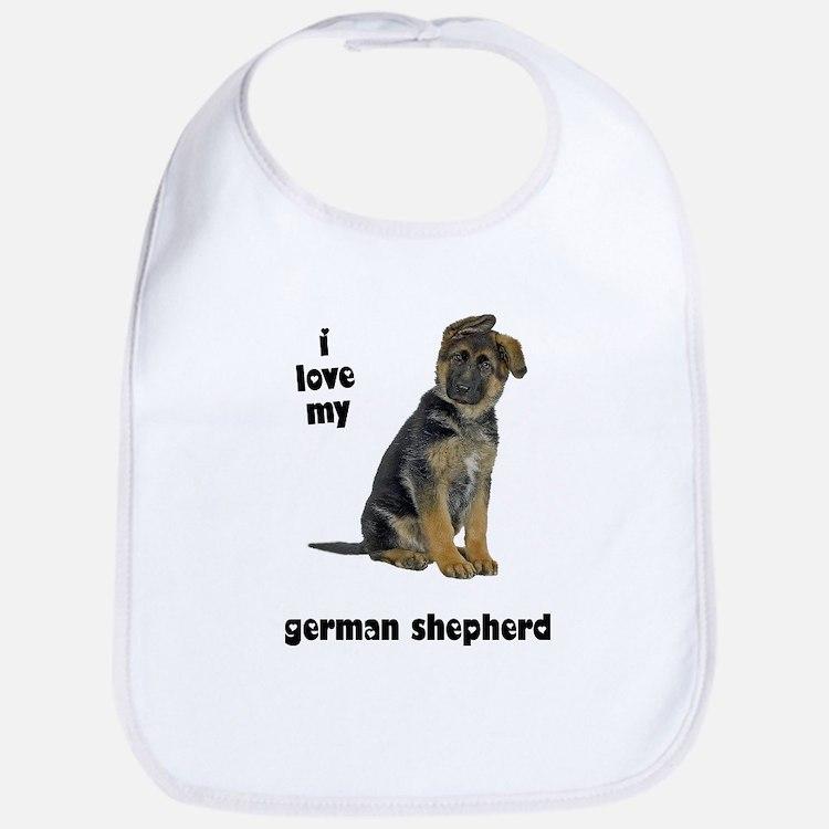 German Shepherd Love Bib