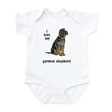 German Shepherd Love Infant Bodysuit