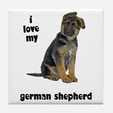 German Shepherd Love Tile Coaster
