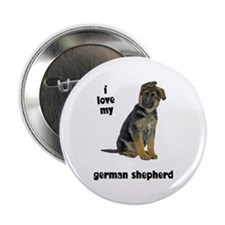 "German Shepherd Love 2.25"" Button"