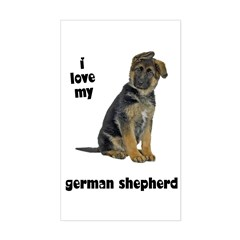 German Shepherd Love Rectangle Decal