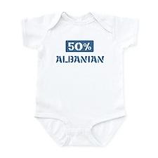 50 Percent Albanian Infant Bodysuit