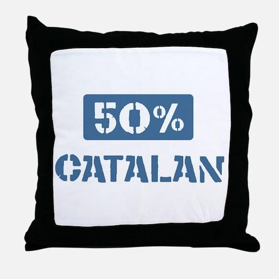 50 Percent Catalan Throw Pillow