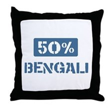 50 Percent Bengali Throw Pillow