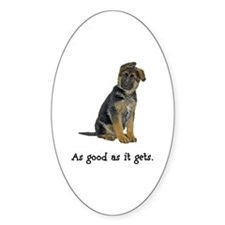 Good German Shepherd Oval Decal
