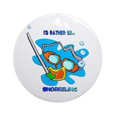 I'd Rather be Snorkeling Ornament (Round)