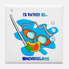 I'd Rather be Snorkeling Tile Coaster