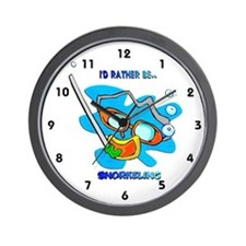 I'd Rather be Snorkeling Wall Clock