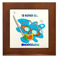 I'd Rather be Snorkeling Framed Tile