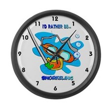 I'd Rather be Snorkeling Large Wall Clock