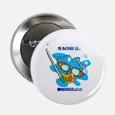 """I'd Rather be Snorkeling 2.25"""" Button"""