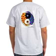 Yin Yang Fish - Ash Grey T-Shirt